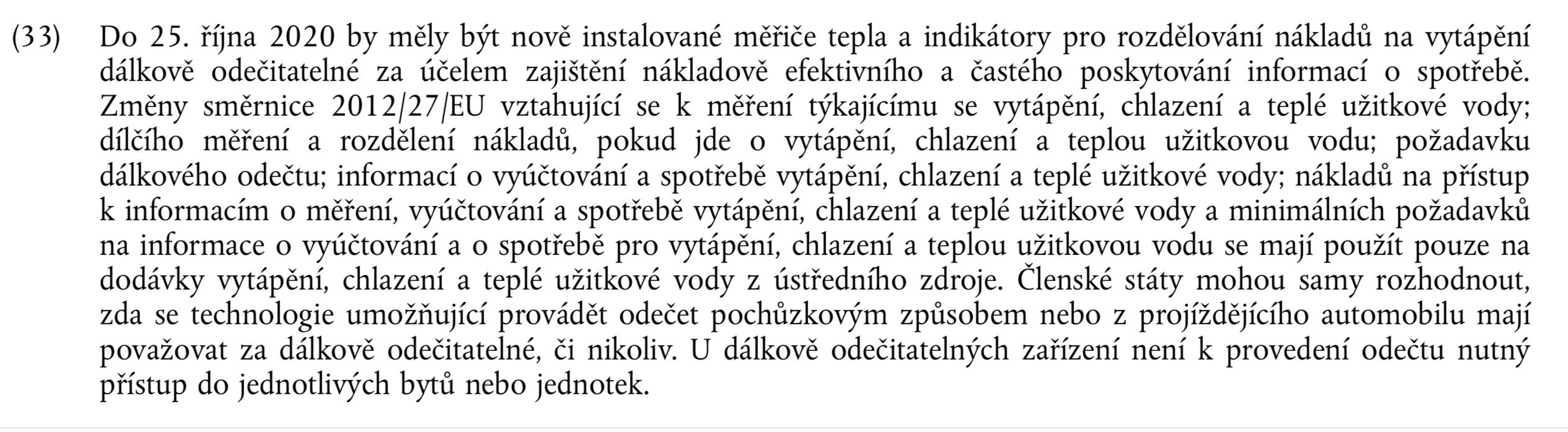 směrnice 2018/2002 měřidla dálkové odečty