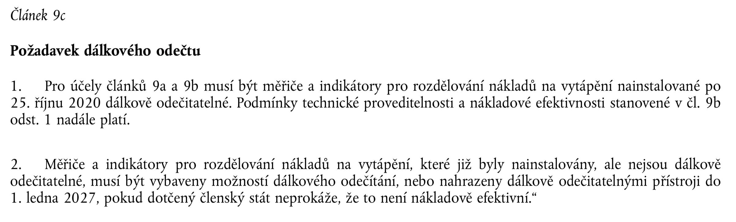 směrnice 2018/2002 dálkové odečty
